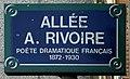 Plaque Allée André Rivoire - Les Lilas (FR93) - 2021-04-27 - 1.jpg