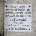 Plaque François de La Rochefoucauld au 9 rue Royale à Paris.JPG