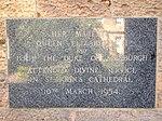Plaque St John's Cathedral, Brisbane 052013 296.jpg