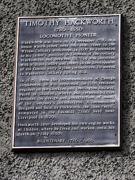 File:Plaque for Timothy Hackworth, Wormald House, Wylam (geograph 5755265).jpg