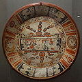 Plate with Maize God imagery, Mexico or Guatemala, Central Maya area, 600-900 AD, earthenware and pigment - De Young Museum - DSC00634.JPG