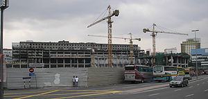 Plaza Rakyat - The construction site of Plaza Rakyat (pictured in February 2007) has seen little activity since the project was stalled in 1997.