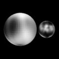 Pluto & Charon (Sub-earth 10 degrees latitude, 172 degrees longitude).png