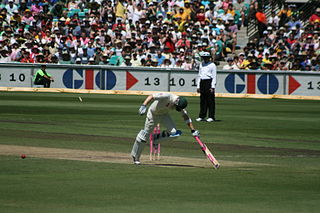 Run out method of dismissal in the sport of cricket