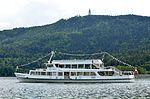 Poertschach Landspitz Motorschiff vor Pyramidenkogel 08052013 281.jpg