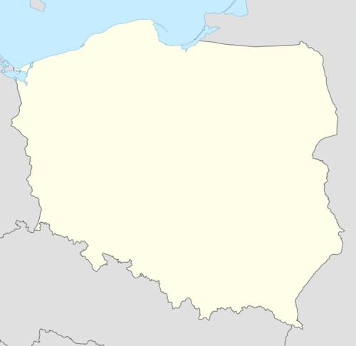 Mapa konturowa Polski w latach 1951–1975