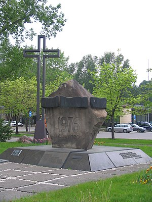 June 1976 protests - Monument to June 1976 in Warsaw