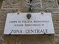 """Polizia Municipale di Firenze - sign """"Corpo di Polizia Municipale Sezione Territoriale di Zona Centrale"""".jpg"""