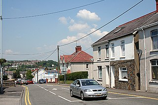 Pontarddulais town in the City and County of Swansea