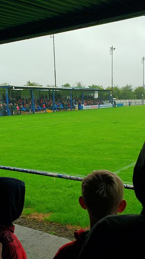 Pontefract Collieries F.C. - Main Stand at Pontefract Collieries