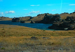 Rohan (Middle-earth) - Poolburn Reservoir, site of several scenes representing Rohan in New Line Cinema's The Lord of the Rings film trilogy