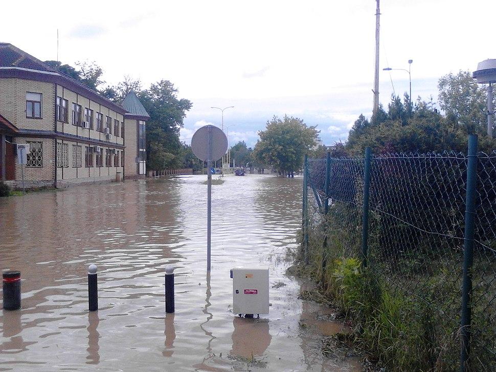 Poplavljena ulica Kneza Miloša Obrenovića u Batočini