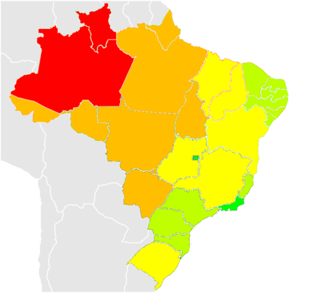List of Brazilian states by population density Wikipedia