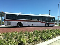Port Stephens Coaches bus at Salamander Bay.jpg