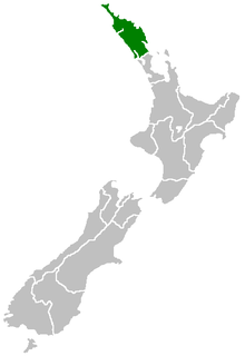 Northland Region region at the northern end of New Zealands North Island