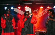Positive Black Soul performing in Vienna, Austria (2003)