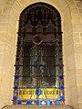 Précy-sur-Oise (60), église Saint-Pierre-et-Saint-Paul, bas-côté sud du chœur, vitrail de saint Louis au-dessus de la porte de la sacristie.JPG