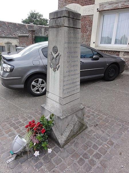 Prémont (Aisne) memorial de guerre 1918