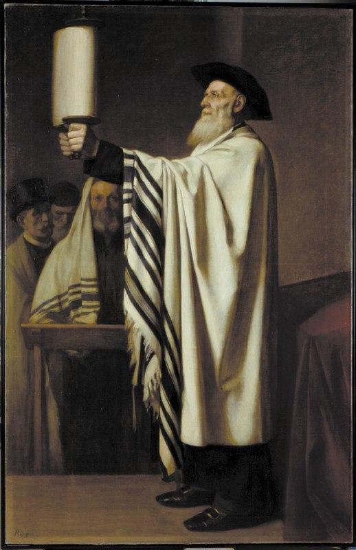 Pr%C3%A9sentation de la Loi, Edouard Moyse (1860) - Mus%C3%A9e d%27art et d%27histoire du Juda%C3%AFsme