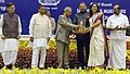 Pranab Mukherjee presented the Micro, Small & Medium Enterprises National Awards, at a function, in New Delhi. The Minister of State (Independent Charge) for Micro, Small & Medium Enterprises (2).jpg