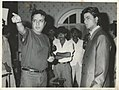 Praveen Nischol directing Sharukh Khan on the sets of English Babu Desi Mem.jpg
