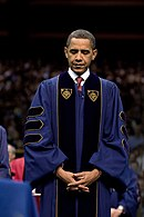 President Barack Obama at Notre Dame University 05-17-09.jpg