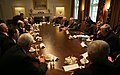 President George W. Bush meets with Dr. Henry Kissinger, former Russian Prime Minister Yevgeniy Primakov, and other senior American and Russian statesmen and policy experts.jpg