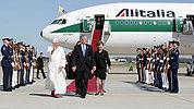 President Pope Shephard One Andrews Air Force Base.jpg