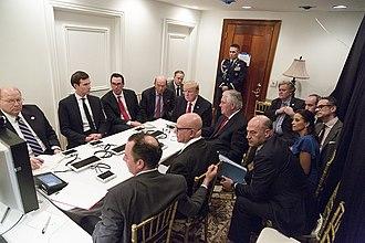 Jared Kushner - Kushner during the April 2017 Syrian missile strike operation