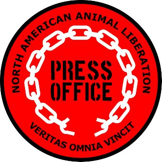Animal Liberation Press Office - North American Animal Liberation Press Office logo.