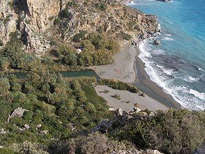 Preveli beach and lagoon