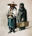 Preziosi - ţărancă şi călugăriţă la Târgul Moşilor.jpg
