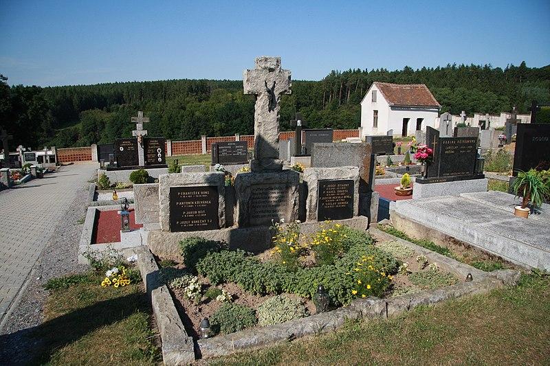 File:Priests tomb near Church of Saints Peter and Paul in Velký Újezd, Kojatice, Třebíč District.jpg