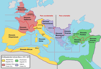 Southern Europe - Partition of the Roman Empire.