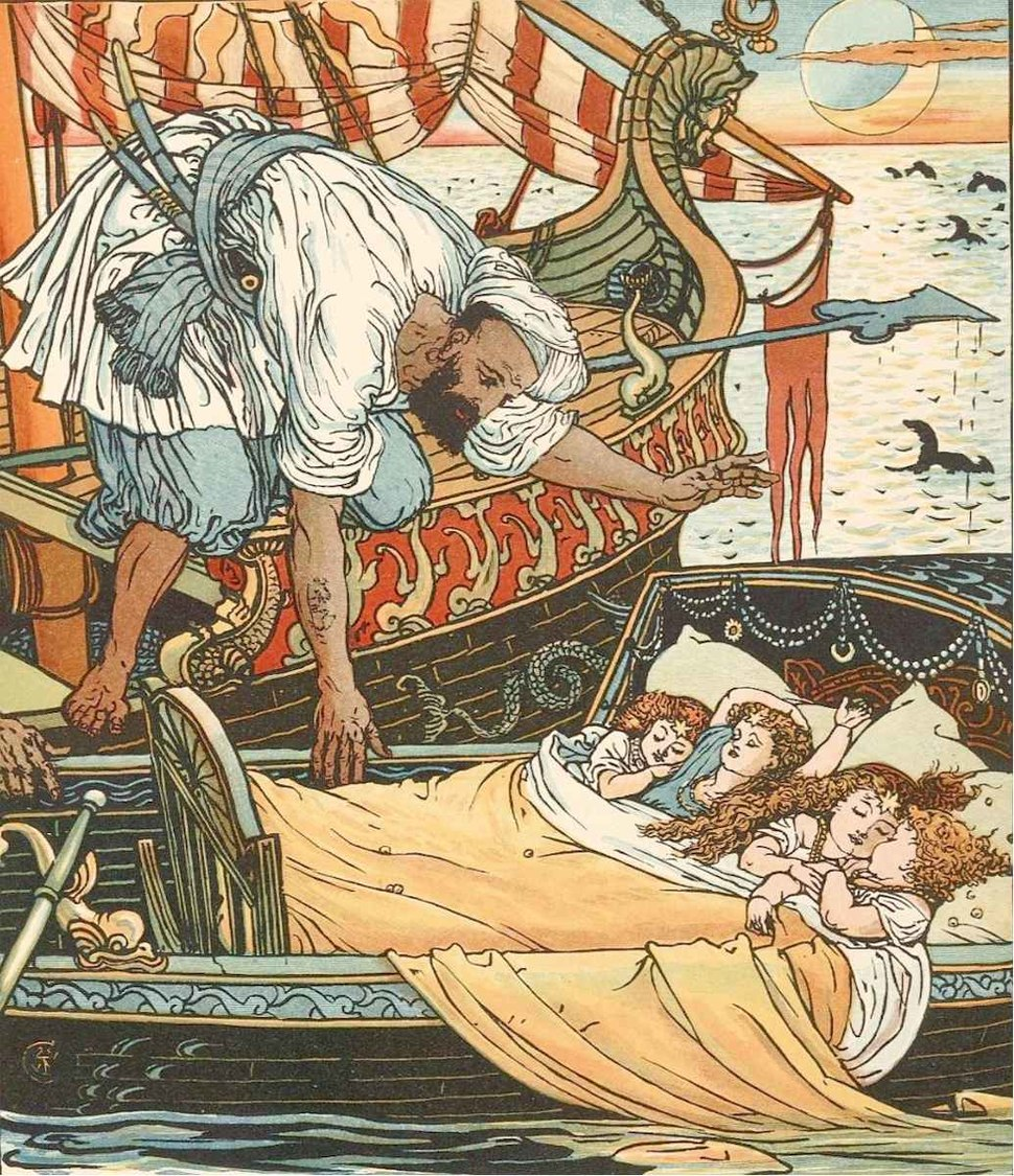 Princess Belle-Etoile 2 - illustration by Walter Crane - Project Gutenberg eText 18344