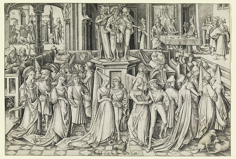 File:Print, Dance at Herod's Court, ca. 1490 (CH 18420585).jpg