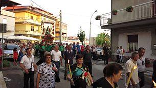 Immagine della processione di San Rocco a Melicucco il 16 agosto.