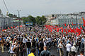 Protesters begin to fill the Trubnaya Area. (7180856617).jpg