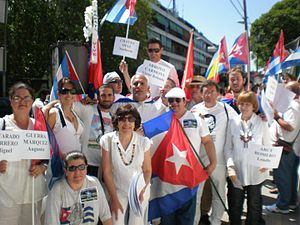 Black Spring (Cuba) - Cubans protesting in Madrid in 2010