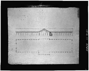 Thomas Alexander Tefft - Tefft's design for Freight House No. 1, of the Providence and Worcester Railroad, Providence.  1847, demolished.