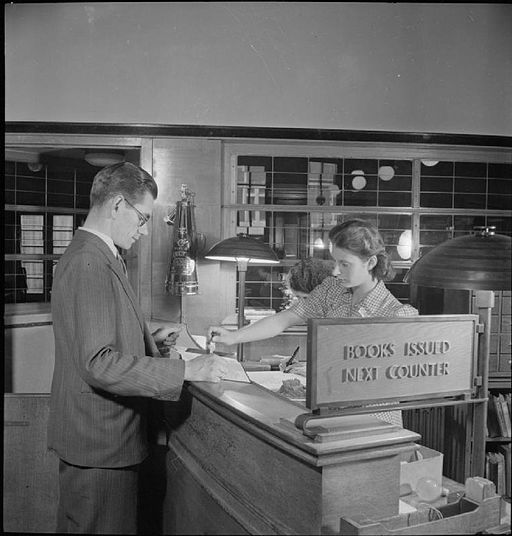 Public Library- the work of Leyton Public Library Service, Church Lane, Leytonstone, London, England, UK, September 1944 D22116