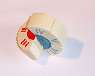 Puck puzzle combination puzzle invented in 1980 by Hungarian physicist András Végh