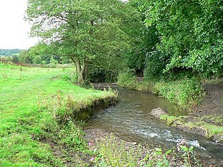 Pudsey Beck watercourse in West Yorkshire