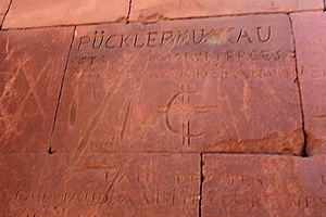 Hermann, Fürst von Pückler-Muskau - Pueckler's name carved in th Great Enclosure of Musawwarat