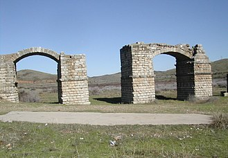 Alconétar Bridge - The two arches 1 and 3, reconstructed in later times