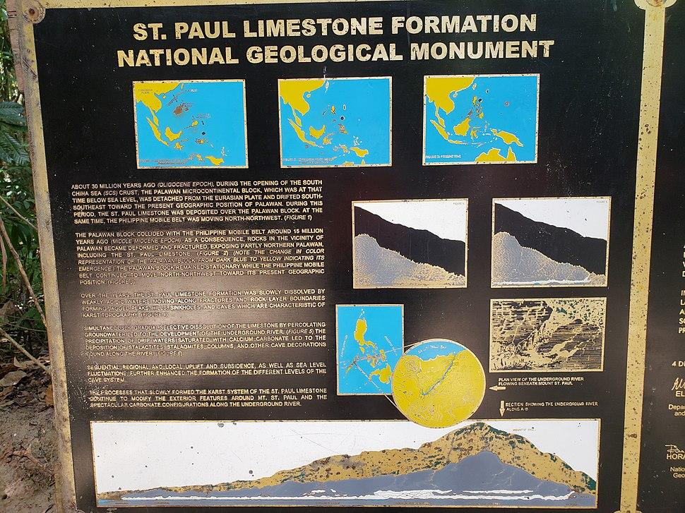 Puerto Princesa Subterranean River National Park geologic marker