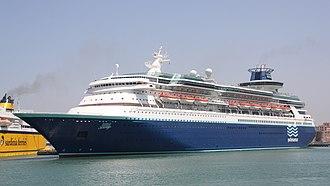 Sovereign-class cruise ship - Image: Pullmantur Cruises Sovereign 04 IMO 8512281 @chesi (cropped)