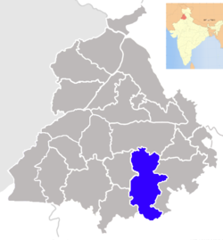 Location of Sangrur district