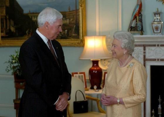 Queen Elizabeth II and Michael Jeffery, 2007