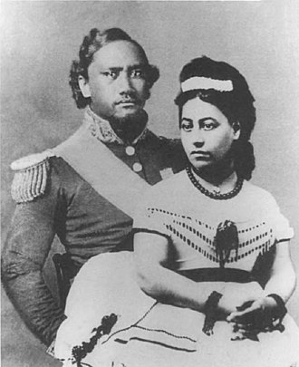 Kamehameha IV - Emma, a British descendant and great grand niece of Hawaiʻi's first king, was Kamehameha IV's Queen Consort.